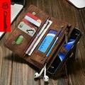CaseMe Для Samsung Galaxy S7 Edge Case, роскошные Натуральная Кожа Популярные 2 в 1 Съемная Конструкция Бумажник для iphone 6 6 plus