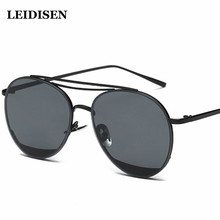 Alloy Fram Sunglasses Cat Eye Women Eyewear Designer Twin-Beam Anti-Reflective SunGlasses Female Vintage Sun glasses Polarized