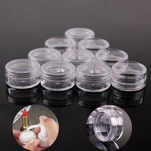 Image 2 - Bộ 100 10g/15g/20g Trống Rỗng Nhựa Chiết Mỹ Phẩm Du Lịch Bình Trang Điểm Hộp Đựng Vòng Lọ Sơn Móng Tay NGHỆ THUẬT Mặt Mẫu Nồi Nước Hoa Gel Hộp