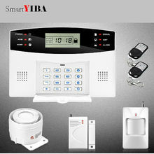 SmartYIBA Remote Control Wireless Wired GSM SMS Home Security Alarm Sysem LCD Display Russian French Spanish Italian Voice
