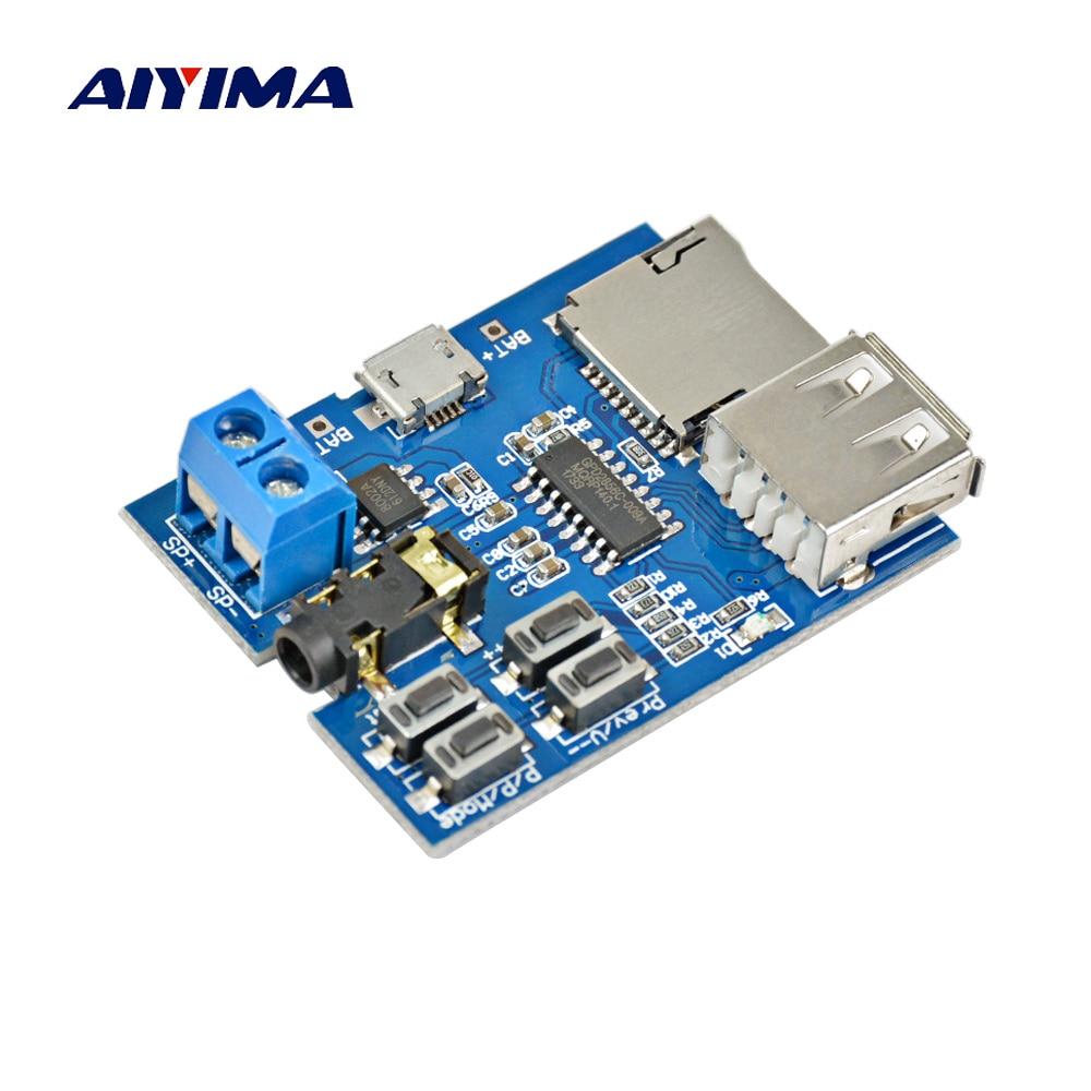 AIYIMA Built in 2W Monaural Amplifier MP3 Lossless Decoding Module TF Card U Dis