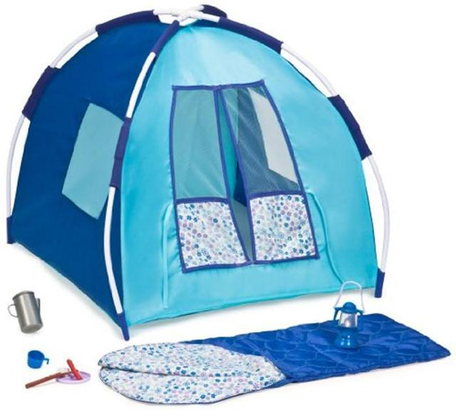 Our Generation Blue C&ing Set Doll Tent and Accessories for Girls Fit  sc 1 st  AliExpress.com & FreeShipping! Our Generation Blue Camping Set Doll Tent and ...