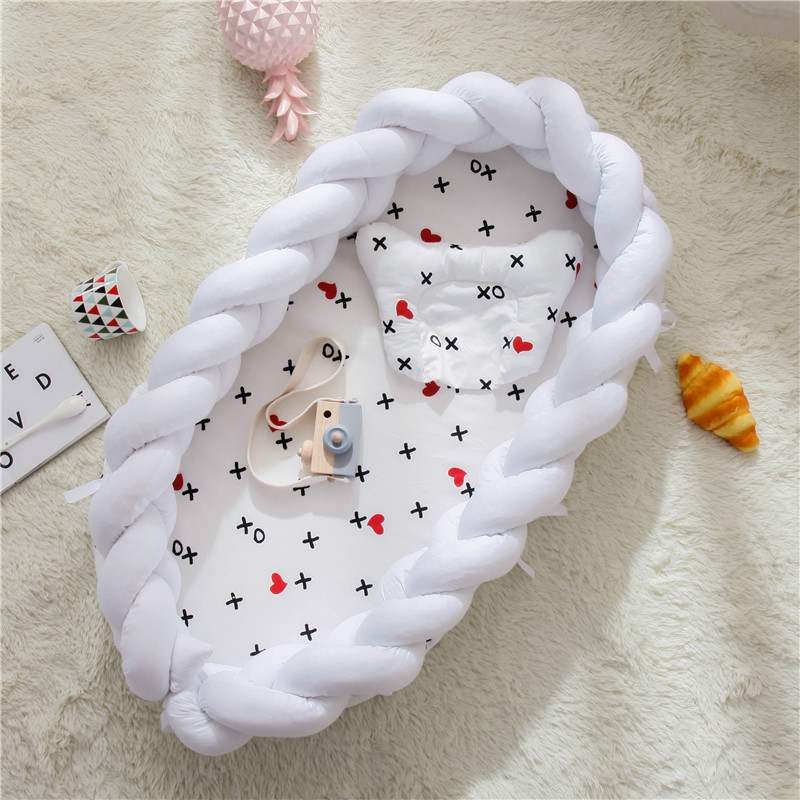 Portable Knot Baby Bed Kids Crib Travel Baby Nest For Summer Spring Bebe Cot Cuna Washable Bassinet Room Decor