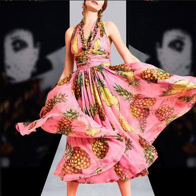 Ver Frutas de Naranja de Impresión Vestido de la Playa vestido de ...