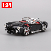 Maisto 1:24 Alloy Super Sports Car Corvette Shelby 1965 Yr. Simulation Models Convertible Classic Car Toy Children Boy New Years