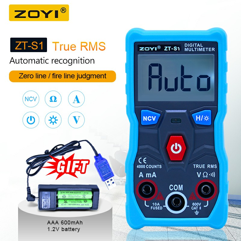 ZOYI ZT-S1 Dijital Voltmetre Ampermetre multimetre True rms automotriz Mmultimetro ohmmet ile VERI TUTUN El Feneri + pil setiZOYI ZT-S1 Dijital Voltmetre Ampermetre multimetre True rms automotriz Mmultimetro ohmmet ile VERI TUTUN El Feneri + pil seti