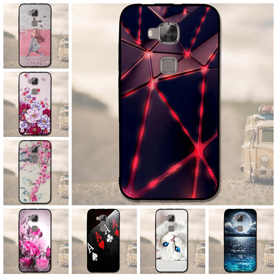 for Huawei Ascend G8 <font><b>Case</b></font> Soft TPU Cover for Huawei G7 Plus 5.5&#8221; Black Silicon <font><b>Phone</b></font> Bag for Huawei <font><b>GX8</b></font> Maimang 4 D199 <font><b>Cases</b></font>