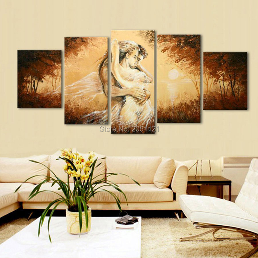 Hand Painted figure Oil Painting nude couple wild lover Pictures On ...