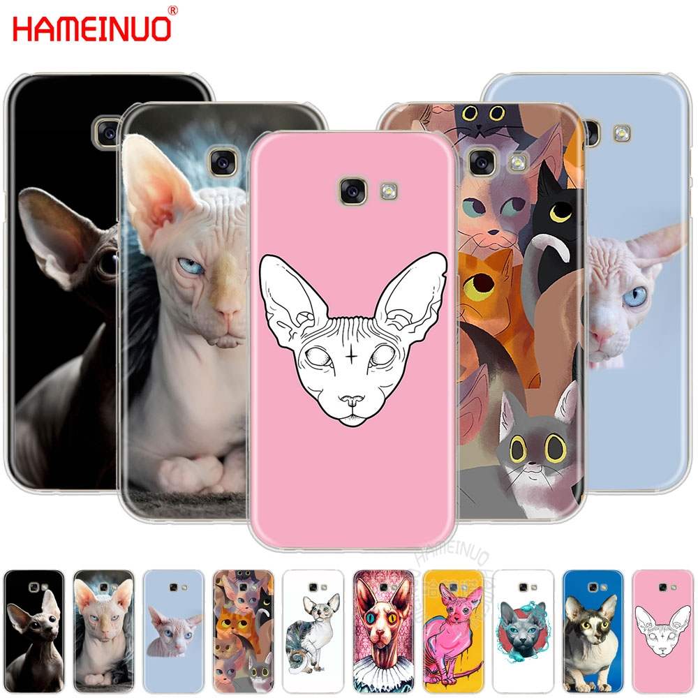 HAMEINUO sphynx cat cell <font><b>phone</b></font> <font><b>case</b></font> cover for <font><b>Samsung</b></font> Galaxy A3 A310 <font><b>A5</b></font> A510 A7 A8 A9 <font><b>2016</b></font> 2017 2018 image