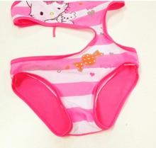 New 2018 Girls One Piece Swimsuits Hello Kitty Swimming Suits Rose KT Swimwear Children Beachwear Lovely Swimsuits Girl G3-SW014