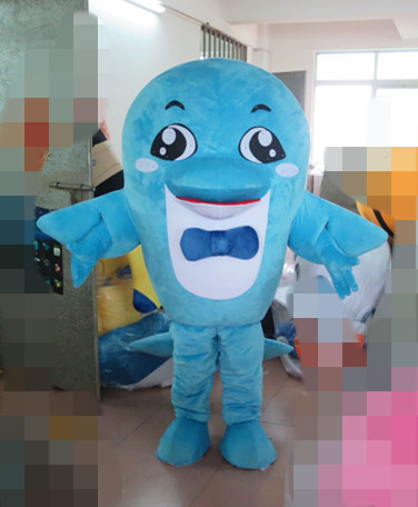 Fancytrader Top Selling Blue Dolphin Mascot Costume, Shark Mascot Costume