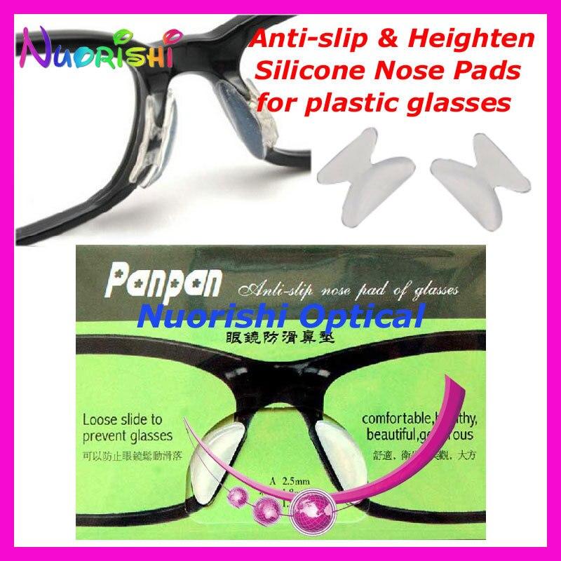 20 пар T2100 анти-скольжения силиконовые увеличивающие рост Носовые фиксирующие накладки Стикеры для ацетат Пластик очки солнцезащитные очки 1,8/2,5/2,8 мм