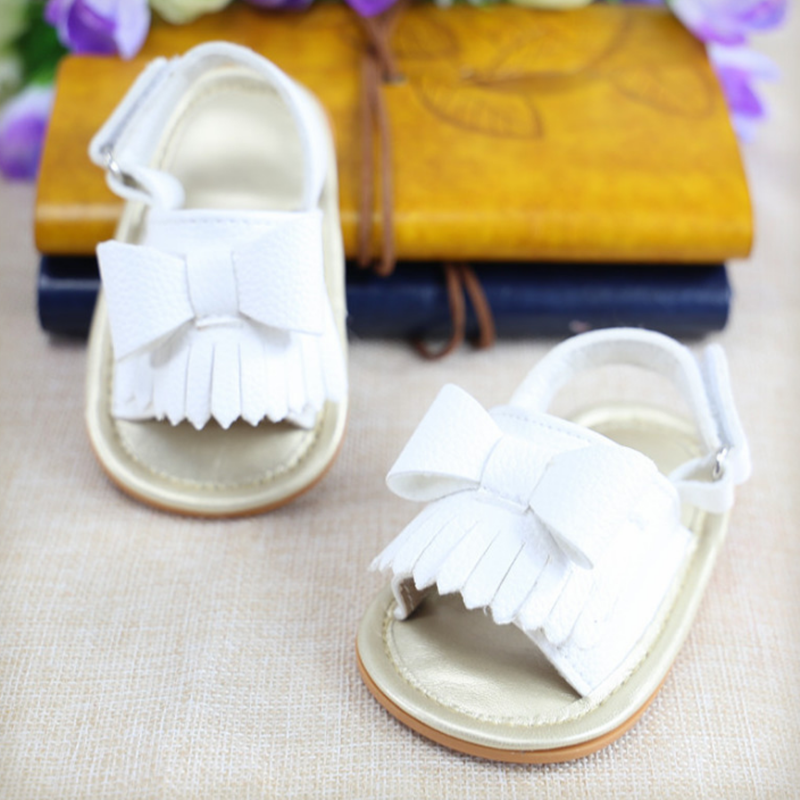 2018 Summer Adorable Baby Girl Shoes Cute Tassel Bow Baby Moccasins Outdoor Indoor Baby Shoes