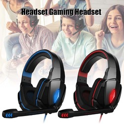 High Quality Gaming Headset Stereo Headphone with Mic Volume Control for PC Laptop