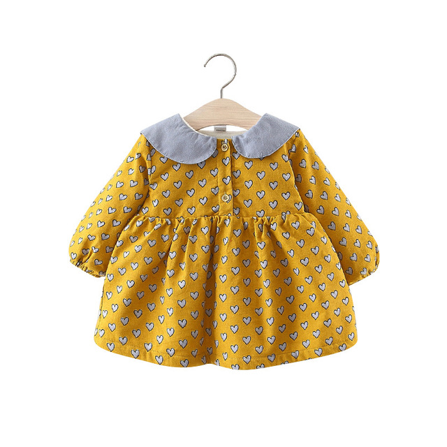 b72a362c7 2018 Toddler Dress Kids Dresses for Girls Warm Fleece Thick Girls Winter  Dress Princess Baby Girls