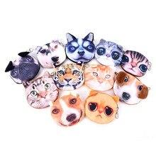 Buggy man pouch cat coin zipper child face purse / cute
