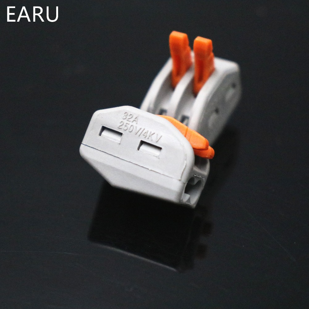 Image 5 - 2000pcs for Russian 222 412 PCT 212 Universal Compact Wire Wiring Connector 2pin Conductor Terminal Block Lever 0.08 2.5mm2Voltage Meters   -