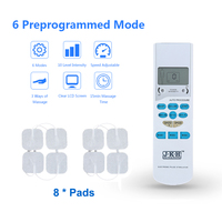 JKH Tens Unit Electronic Pain Relief Machine Body Pulse EMS Therapy Massager Intensity&Speed Adjustable With 4 Electrode Pads