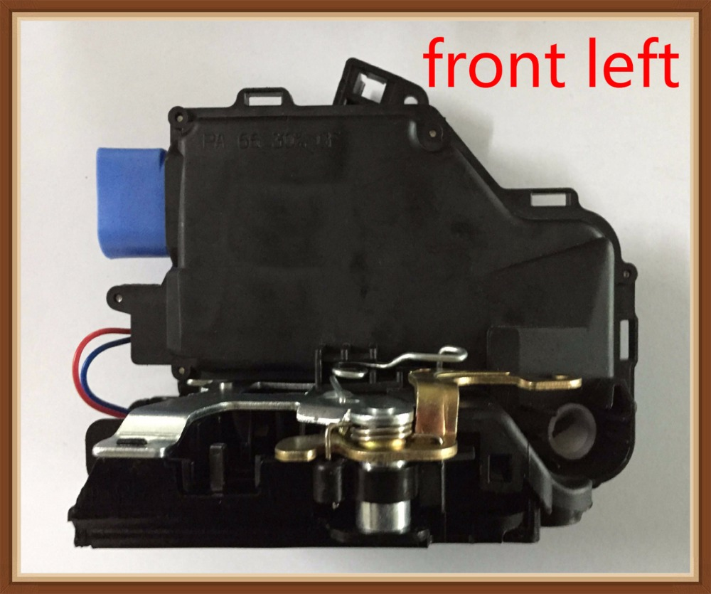 Front Left Latch Door Latch Actuator For VW Jetta Golf GTI Rabbit MK5 Touran Caddy, SKODA, 3D1 837 015 AB 3D1837015AB metal hood latch lock catch for vw jetta golf gti mk4 gl glx tdi