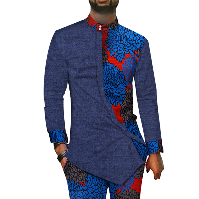 5f802b02d7 African Men Suit Long Sleeve Shirt And Pants Set African Print Jacket  Trousers Business Formal Party