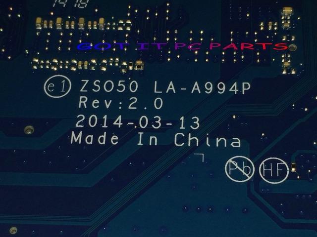 CALIDAD ESTUPENDA!!! envío libre zso50 la-a994p placa madre del ordenador portátil juego para hp 15-r 15t-r notebook pc (sin hdmi)