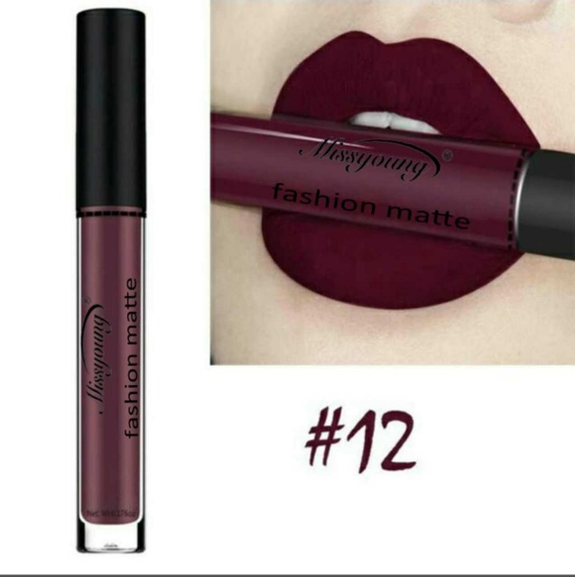 12 Colors Long Lasting Waterproof Liquid Pencil Matte Lipstick