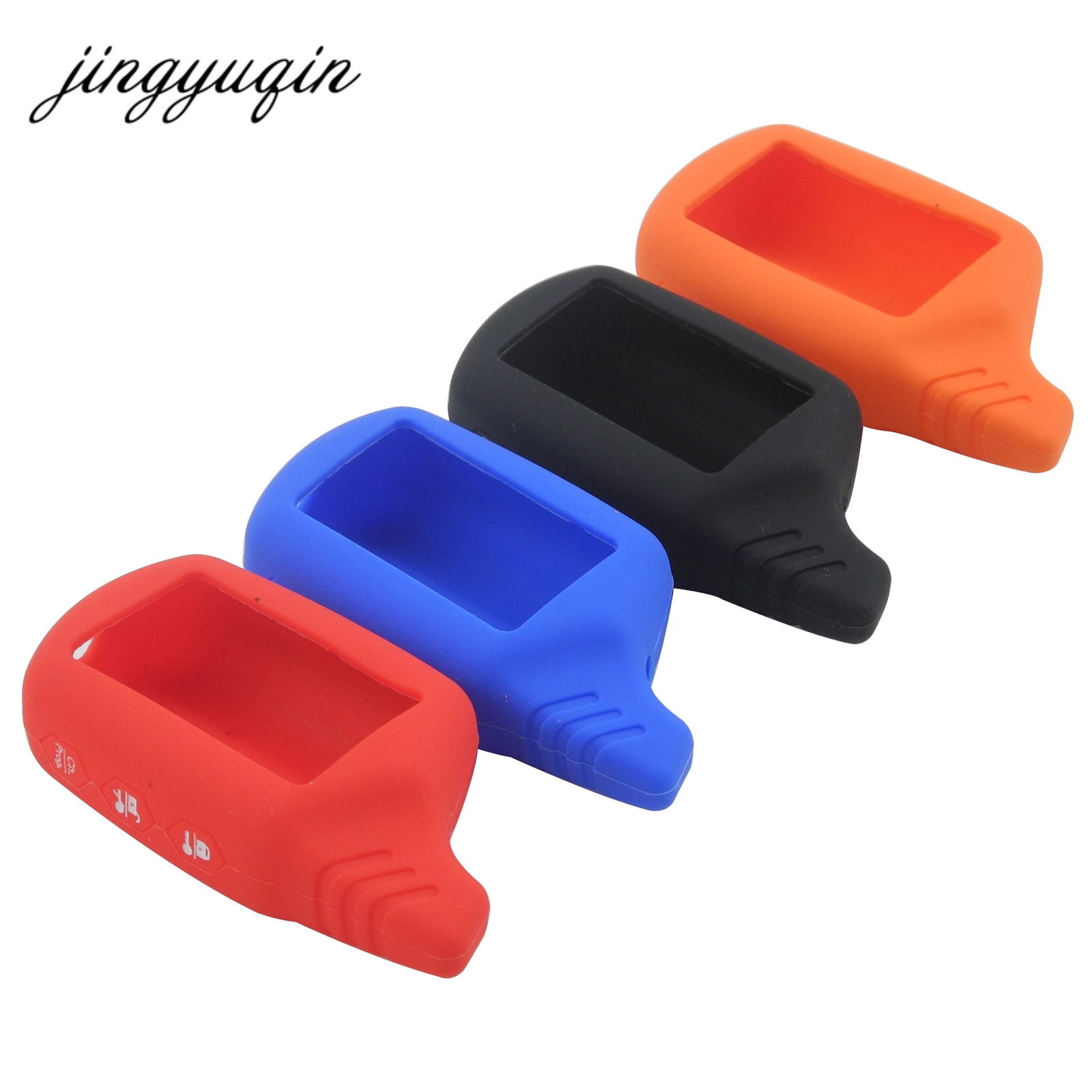 Jingyuqin Key Cover B9/B6 Silicone Case For Starline B91/B61/A91/A61 KGB FX-5 Jaguar Ez-one LCD Keychain Car Remote 2 Way Alarm(China)