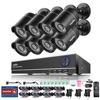 SANNCE 8CH 1080N CCTV DVR System With 8pcs 720P 1200TVL CCTV Security Cameras 8 Channels CCTV