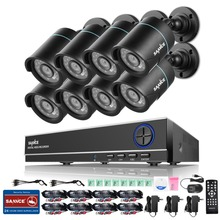 SANNCE 8CH 1080N CCTV DVR System with 8pcs 720P 1200TVL CCTV Security Cameras 8 channels CCTV Surveillance kit P2P Email Alert