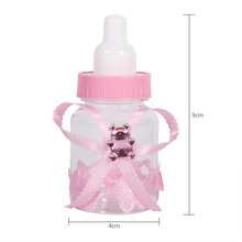 50Pcs Girl Boy Baby Shower Decorations Chocolate Candy Bottle Baptism Favors Christmas Halloween Party Gifts Box Plastic Case