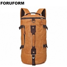High Quality 100 Genuine Leather Bucket Backpack Fashion Men Travel Bags Brand Design 15 6 inch