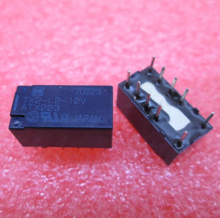 HOT NEW relay TX2-L2-12V ATX223 TX2-L2-12VDC TX2L212V 12VDC DC12V DIP8 free shipping free shipping 10pcs d2011k dip8