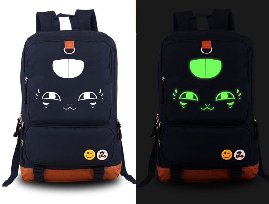 New Natsume Yuujinchou Nyanko-sensei Luminous Cosplay Backpack Anime Cat Canvas Student Schoolbag Unisex Travel Bags цены онлайн
