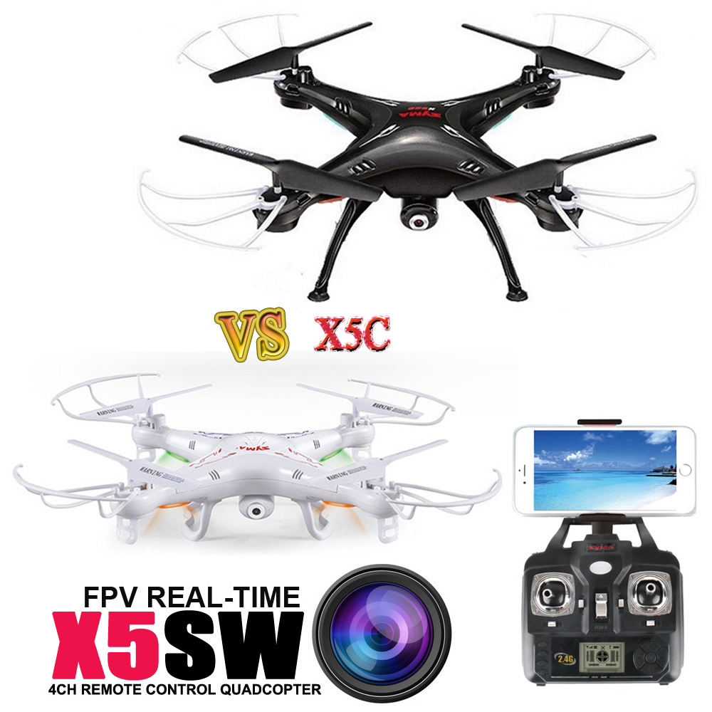 Free Shipping SYMA X5SW 1 WIFI Drone With FPV Camera Headless Real Time X5C 1 RC