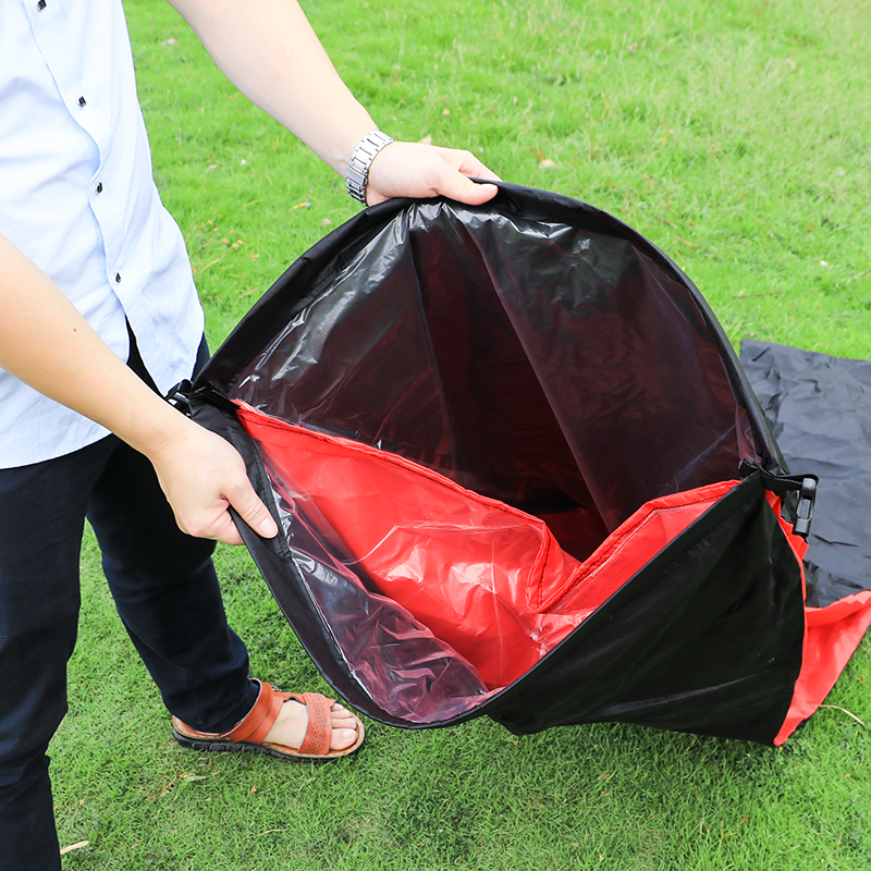 Drop shipping fast inflatable lounger air sleep camping sofa portable camping travel outdoor laybag lazy bag