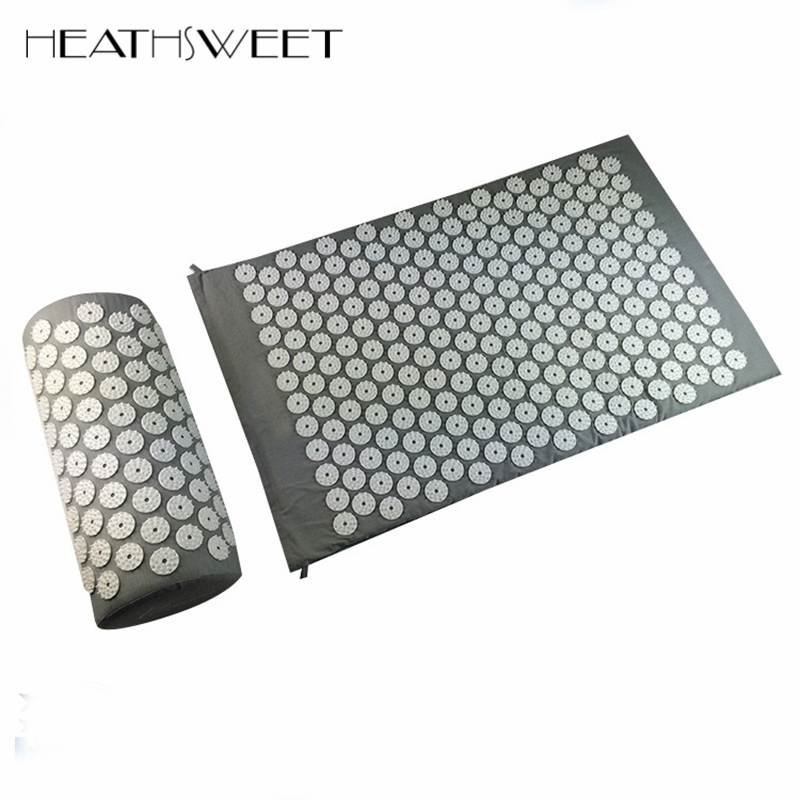 Healthsweet Acupressure Body Massage Mattress Massager Cushion Relieve Stress Pain Acupuncture Spike Yoga Mat with Pillow Set free shipping massager body massage cushion back neck care acupressure shiatsu massager relieve pain physiotherapy equipment