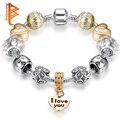 Brand Women's Fashion Jewelry Crystal Charm Bracelet For Women Gold Plated Bracelets Bangles Handmade Jewelry Pulseras Gift