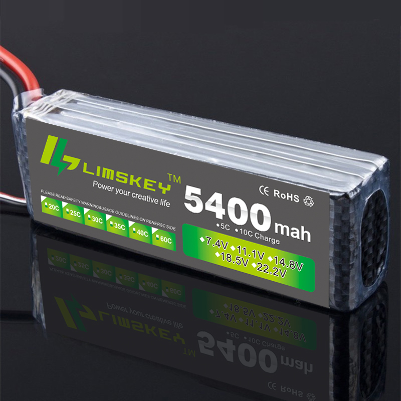 Limskey Power 3S Lipo Battery 11.1V 5400MAH 30C MAX 35C AKKU LiPo RC Battery For Rc Helicopter Car Boat 3S Lipo 11.1 tcbworth rc drone lipo battery 11 1v 2200mah 30c max 60c 3s for rc airplane helicopter car boat akku 3s batteria