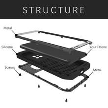 Aşk MEI ağır koruma Doom zırh Metal alüminyum su geçirmez telefon kılıfı Huawei Mate 20 Pro Metal darbeye kapak