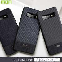 Per Samsung S10 E Caso Mofi Per Samsung Galaxy S10 Più La Cassa Per Samsung Galaxy S10 Posteriore di Caso Della Copertura del Panno tessuti di Affari S10E