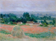 High Skill Hand Painted Top Artist Reproduction Landscape Painting Handmade Haystack at Giverny Countryside Wall Art