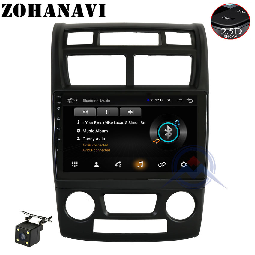 ZOHANAVI 2 5D Android car radio multimedia player for KIA sportage 2007 2008 2009 2010 2011