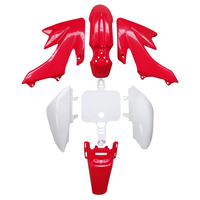 Plastic Red And White Fairing Body Cover For Honda CRF XR 50 CRF 125cc SSR PRO