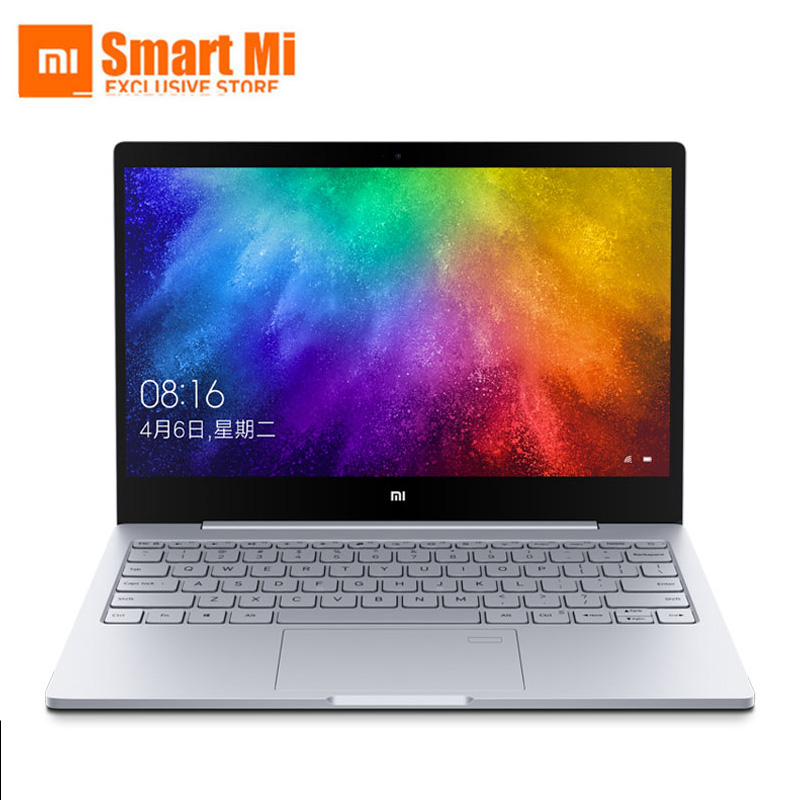 2019 Xiaomi Mi Notebook Laptop Air 13.3 Inch English Windows 10 Intel UHD Graphics 620 Fingerprint From Camera Silver Color