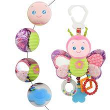 От 0 до 2 лет младенцев и детей образования мультфильм животных формы кровать колокол гель при прорезывании зубов BB устройства плюшевые игрушки
