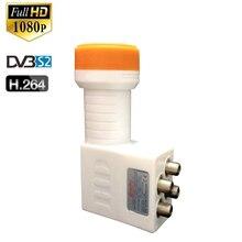 Señal HD Digital a prueba de agua LNBF Universal KU Band QUAD LNB alta ganancia ruido bajo plato de 0,1 dB para receptor de tv satelital de DVB S2