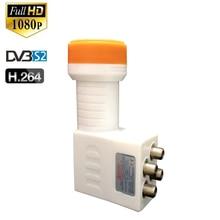 Sinal impermeável de digitas hd lnbf universal ku banda quad lnb alto ganho baixo ruído 0.1 db prato para DVB S2 receptor tv satélite