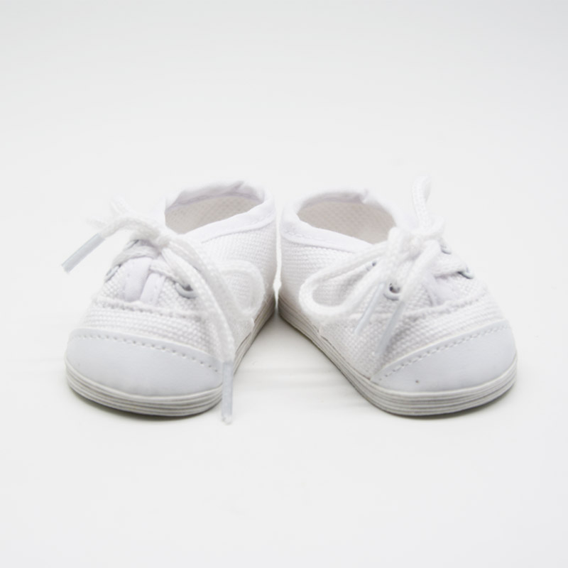 "White Canvas Slip On Shoes made for 18/"" American Girl Doll Clothes"