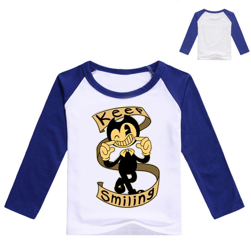 NEW 2-12 Years Kids Clothes Spring Boris Bendy Costume Toddler Girl Jacket Jas Jongen Boys Hoodies and Sweatshirts Long Sleeves