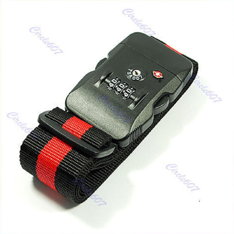 J35 TSA Luggage 3-Dial Combination Safe Suitcase Lock Strap